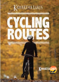 cyclist on the cover of the cycling routes map