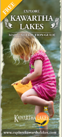 child on the cover of the map and attraction guide