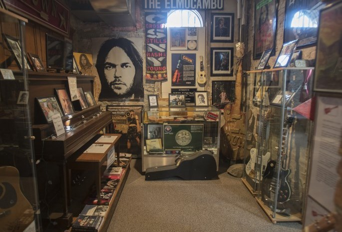 images inside the Neil Young museum