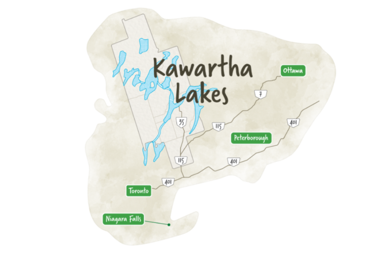map of kawartha lakes