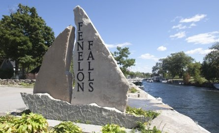 image of rock sign in fenelon falls